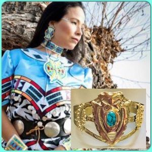 🔥South Western Native American Bracelet Signed🤠
